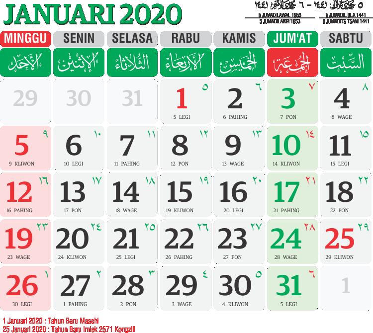 Template Kalender 2020 09 - Toko Fadhil Template