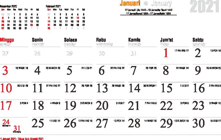 Template Kalender 2021 45 - Toko Fadhil Template