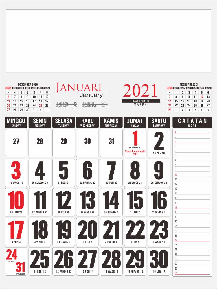Template Kalender Kerja 2021 48 - Toko Fadhil Template